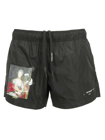 Off-White Graphic Printed Swim Shorts