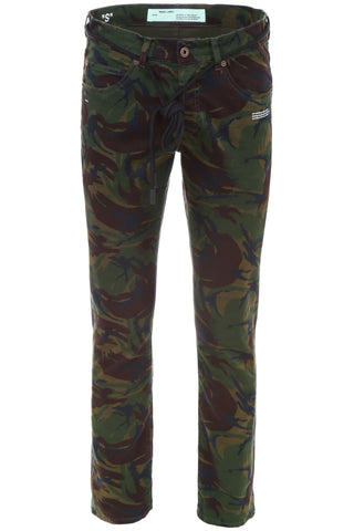 Off-White Camouflage Skinny Jeans