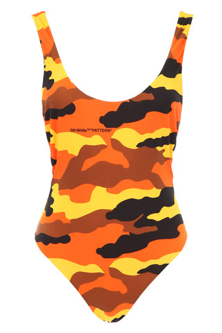 Off-White Camouflage Swimsuit
