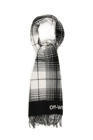 Off-White Logo Checked Scarf