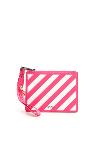 Off-White Striped Pouch
