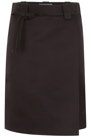 Prada Bow Detail Wrap Skirt