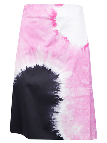Prada Printed Wrap Skirt