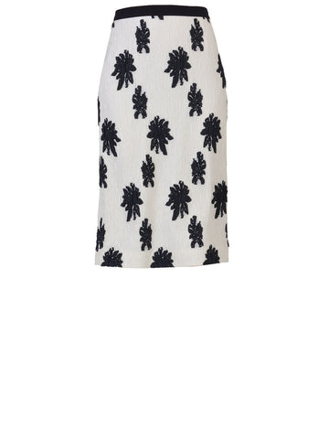 Balenciaga Floral Embroidered Fitted Skirt