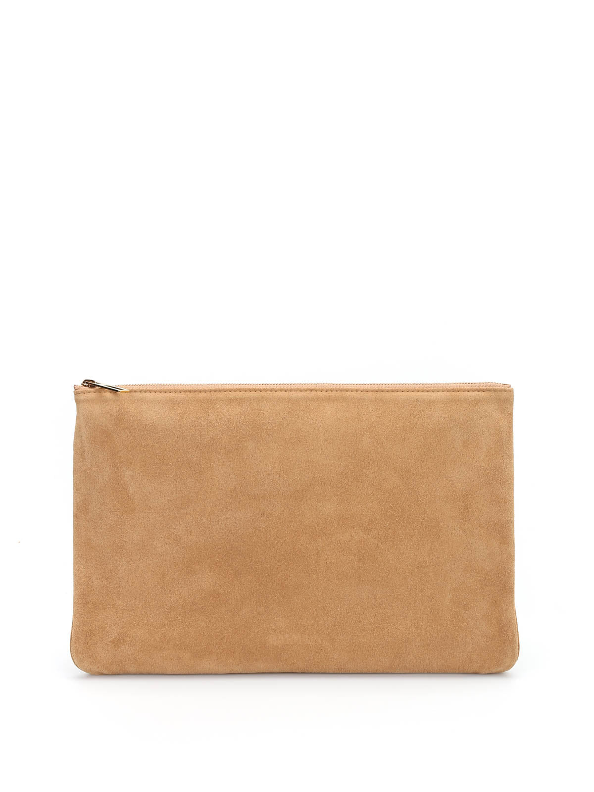 BALMAIN SUEDE CLUTCH BAG
