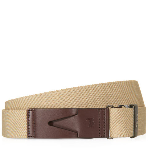 Tod's Canvas Leather Fastening Belt