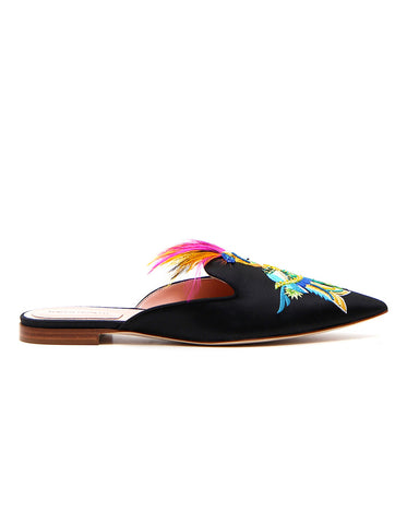 Alberta Ferretti Parrot Feather Slippers