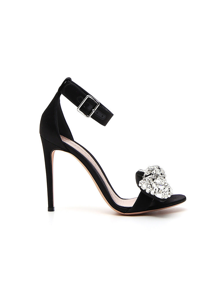 100% authentic for sale Alexander McQueen embellished bow sandals enjoy for sale clearance sale AwsDKo