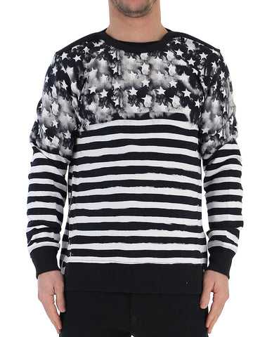 Balmain Contrasted Stripe Knit Sweater
