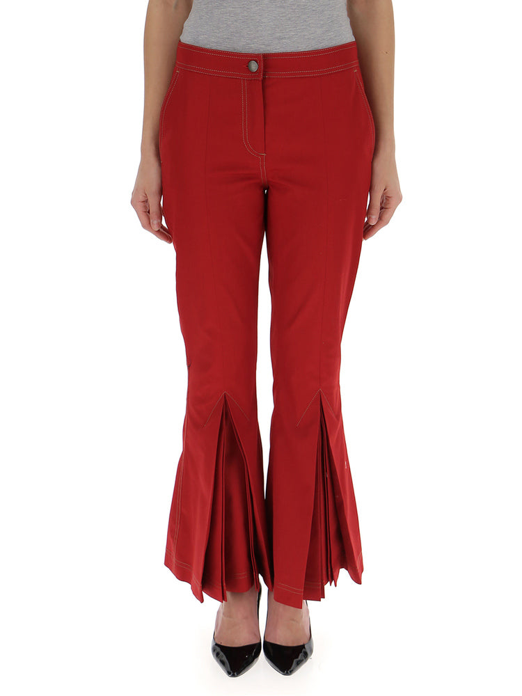 MARCO DE VINCENZO FLARED CROP TROUSERS