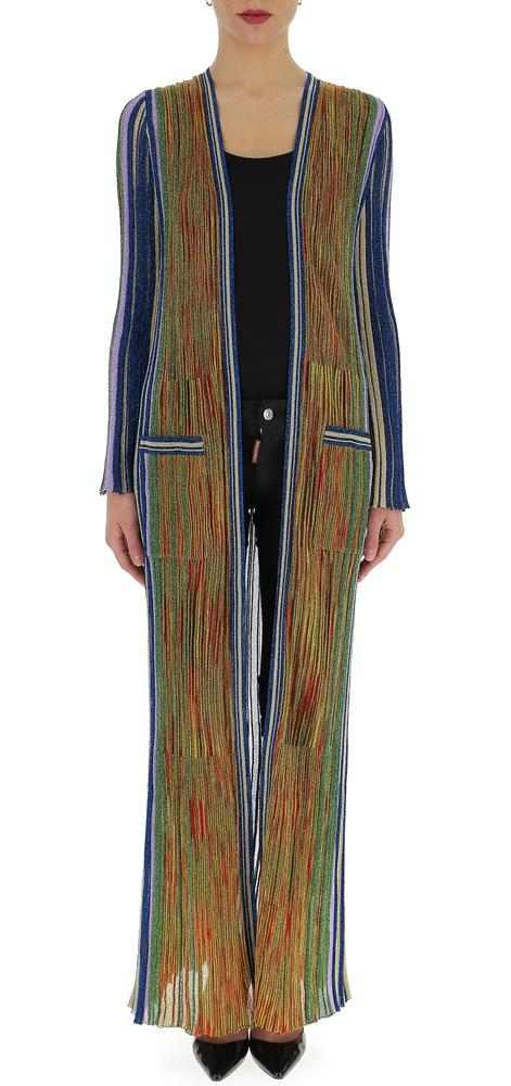 MISSONI STRIPED RAINBOW COAT