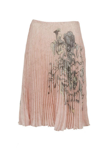 Prada Pleated Silk Skirt