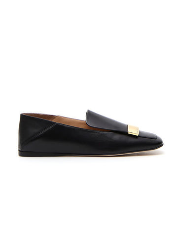 Sergio Rossi Plaque Applique Loafers