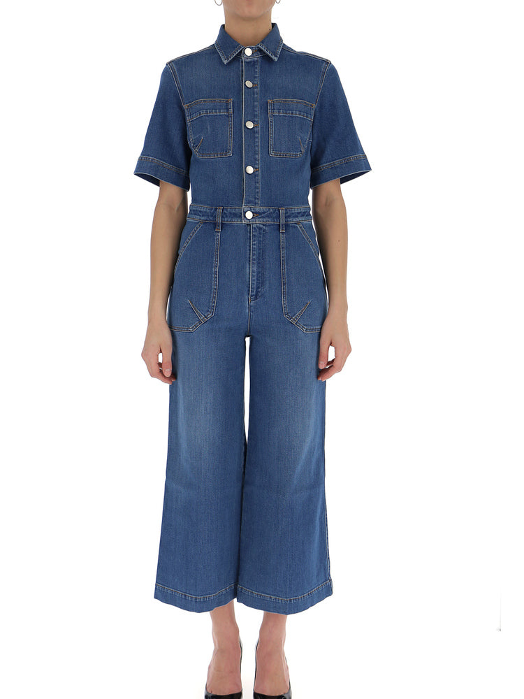 Stella McCartney cropped denim jumpsuit Pictures Cheap Price 2018 Cheap Price Discount 100% Authentic Perfect Cheap Online Xecdy