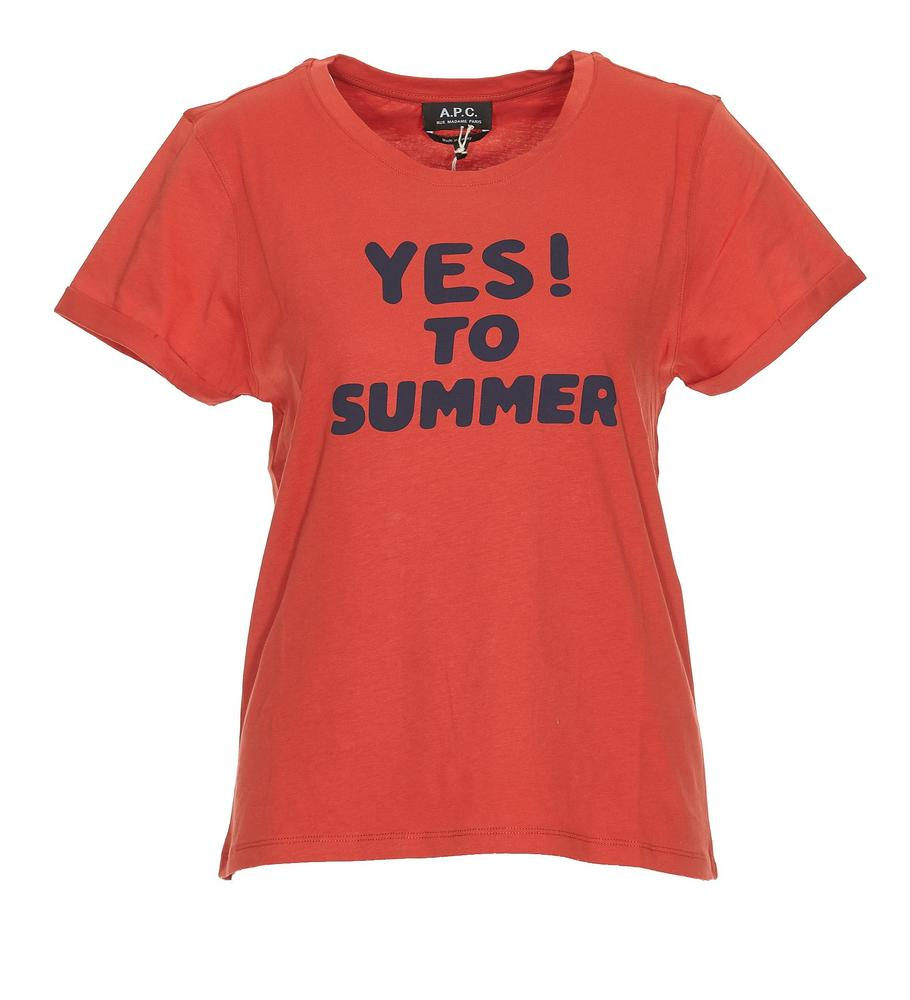 d071fdf31d44 A.P.C. Yes! To Summer T-Shirt – Cettire