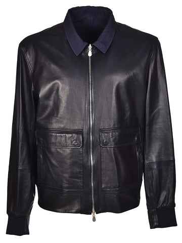 Brunello Cucinelli Reversible Leather Jacket