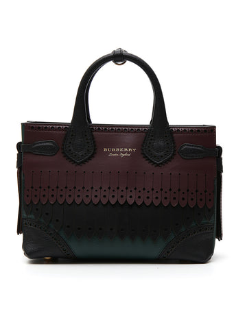 Burberry Small Banner Brogue Tote Bag