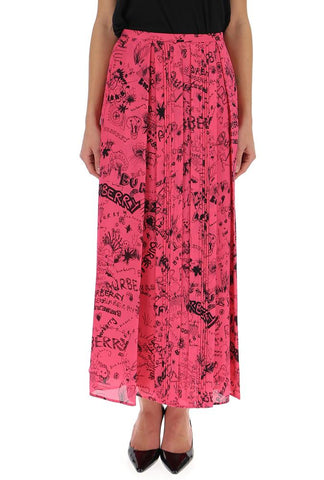 Burberry Graffiti Pleated Skirt