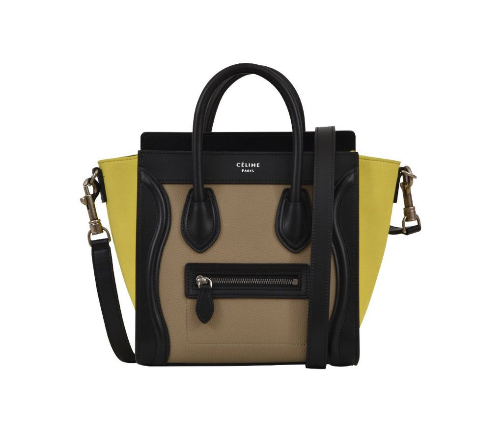 311a5e06a8b Céline Colour Block Nano Luggage Bag – Cettire