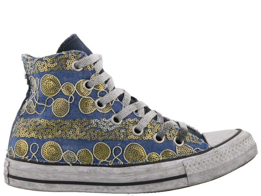 CONVERSE CHUCK TAYLOR SEQUIN EMBELLISHED HIGH TOP SNEAKERS