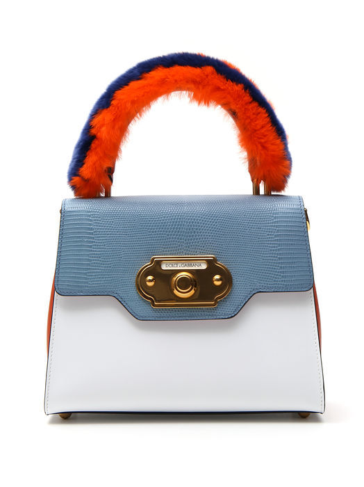 DOLCE & GABBANA SMALL LUCIA COLOUR BLOCK TOTE