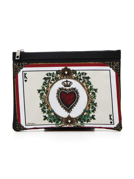 6b47d9ee8e24 Dolce   Gabbana Printed Sacred Heart Pouch – Cettire