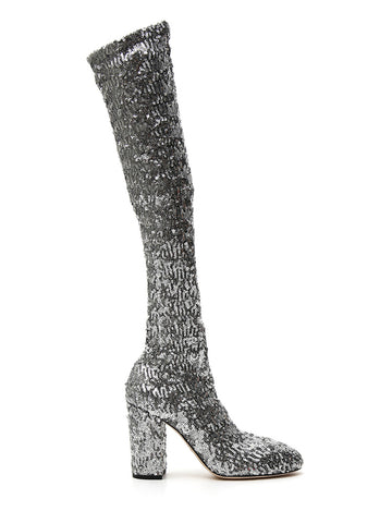 Dolce & Gabbana Sequin Stretch Boots
