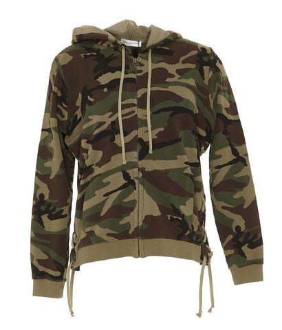 Faith Connexion Camouflage Print Zip Up Hoodie