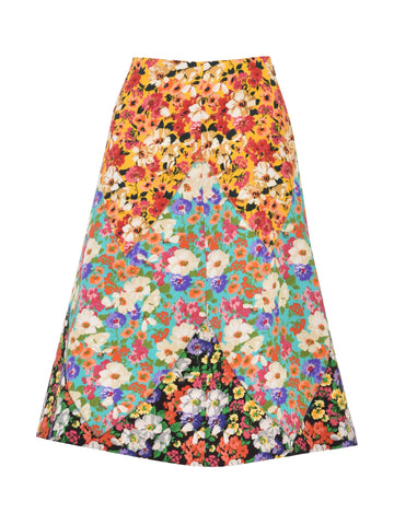 Gucci Flared Floral Print Skirt