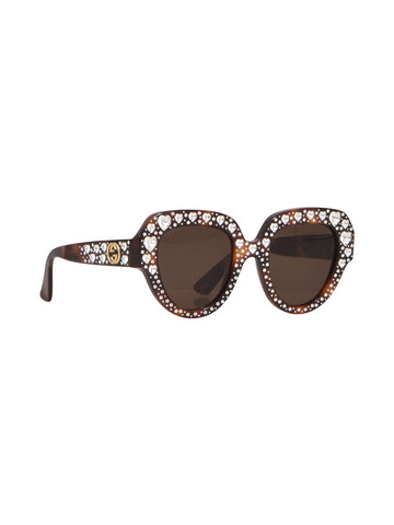 Gucci Heart Studded Sunglasses