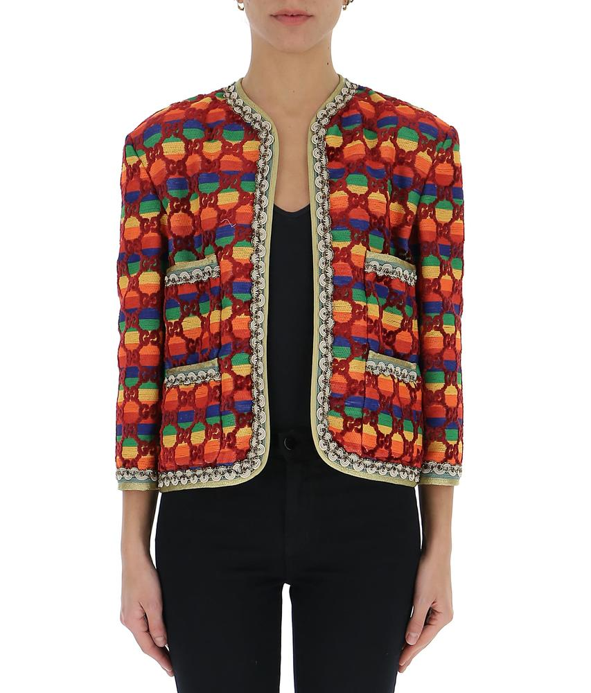 Gucci Gg Supreme Patterned Jacket in Multi