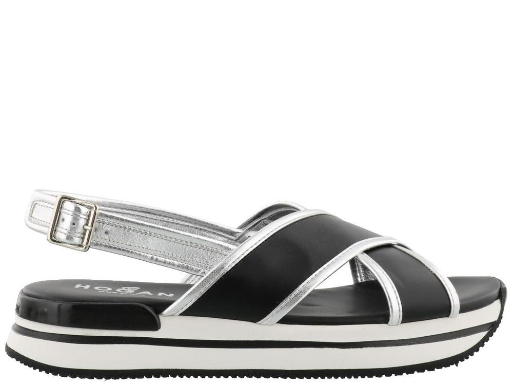 HOGAN CROSS STRAP SANDALS