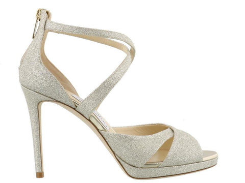 Jimmy Choo Lorina 100 Glitter Sandals