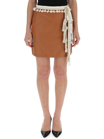 Loewe Tassel Leather Mini Skirt