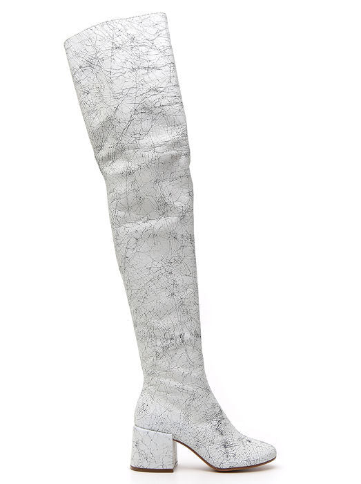 MM6 MAISON MARGIELA CRACKED THIGH BOOTS
