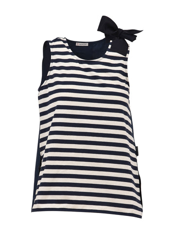 Moncler Striped Bow Top