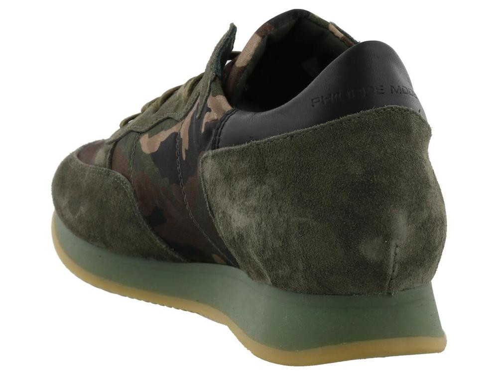 Camouflage Tropez Sneakers - IT40 / Khaki Philippe Model cgyMfynor