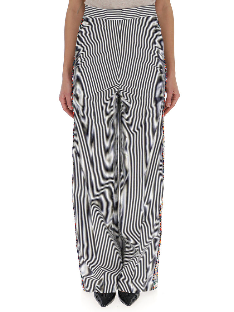 PORTS 1961 STRIPED LOOSE FIT TROUSERS