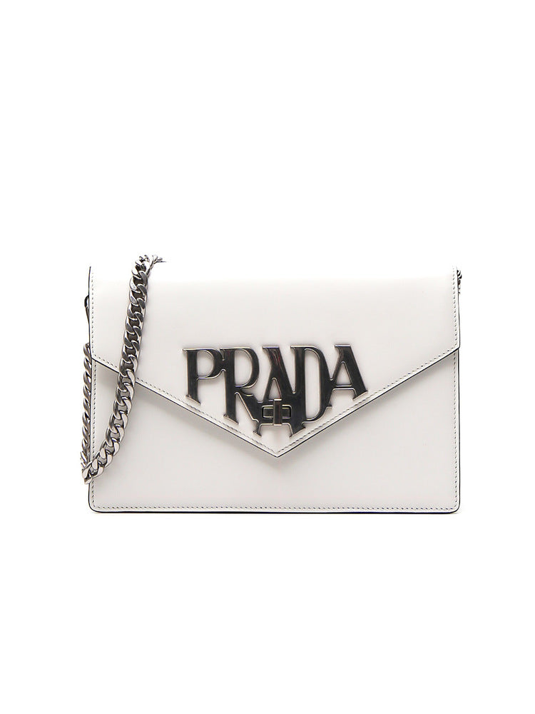 d749bcadb0e0de Prada Logo Plaque Shoulder Bag – Cettire