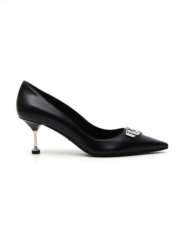 Plaque Pointed Pumps - IT37 / Black Prada ez6NDnZBk