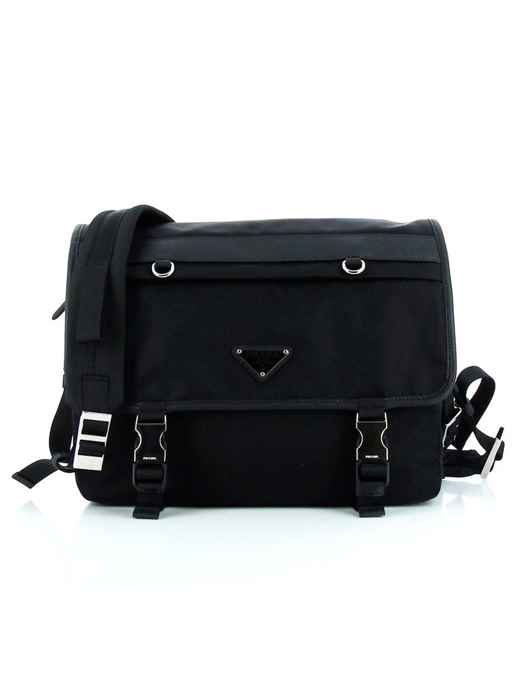 Buckle Nylon Shoulder Bag - Only One Size / Black Prada Cheap Browse mZL07I2e