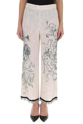 Prada Pleated Crop Trousers