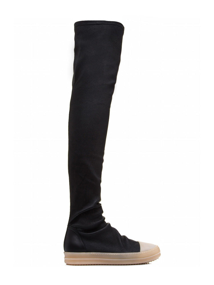 RICK OWENS OVER THE KNEE SNEAKERS