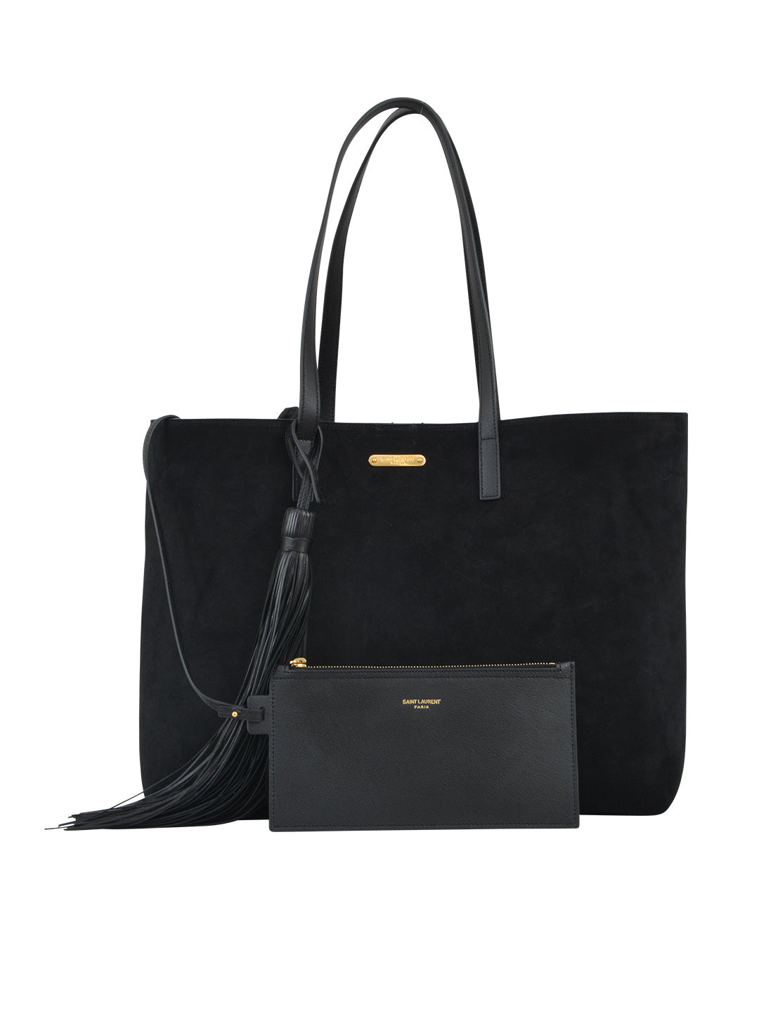 SAINT LAURENT TASSEL SHOPPING TOTE