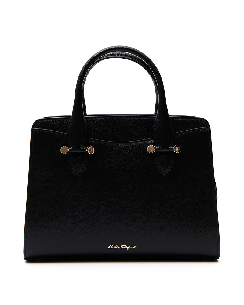 SALVATORE FERRAGAMO DOUBLE HANDLE TOTE