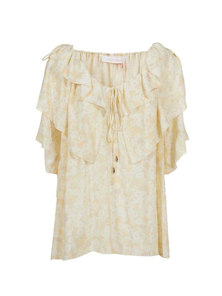 3c8253914fa3e See by Chloé Ruffled Detail Top – Cettire