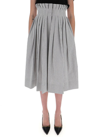 Thom Browne Pleated Waist Pin Stripe Skirt