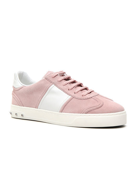 Suede Fly Crew Sneakers - IT38.5 / Pink Valentino