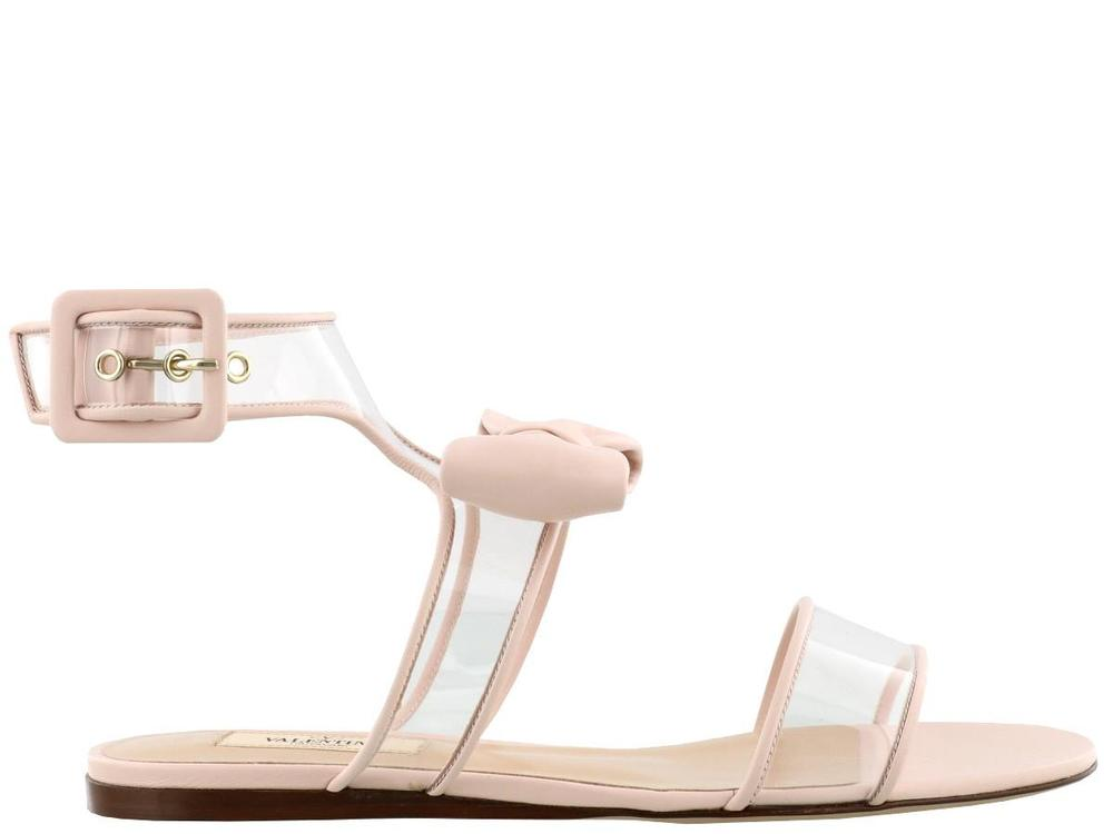 Garavani Clear Strap Bow Sandals - IT36 / Pink Valentino K0jPPX