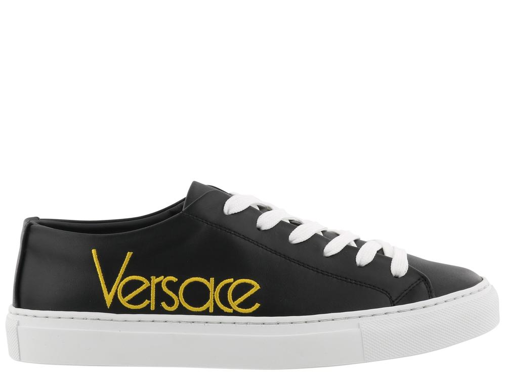 embroidered logo sneakers - Black Versace 1ATlJIaIE3